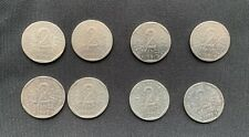 Lot 8 pièces 2 Francs SEMEUSE  O. ROTY  Années : 2 x 1979 2 x 80 2x81 2x82 SUP