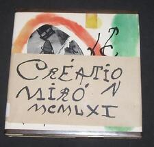 Creation Joan Miro 1961 Blue Painting Art Color Plates Spanish French English