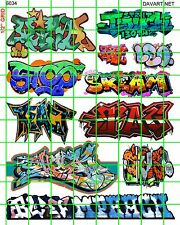 6034 DAVE'S DECALS HO SCALE URBAN GRAFFITI TRAIN BOXCARS STREET CITY WALLS