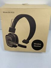 Trucker Style Bluetooth Wireless Headset With Boom Microphone Model BH-M16
