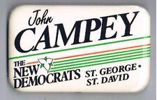 1987 John Campey Ontario Parliament Canada Political Pinback Button New Democrat