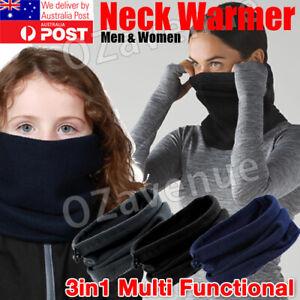 Winter Warm Fleece Snood Scarf Neck Warmer Beanie Hat Ski Balaclava Men Women