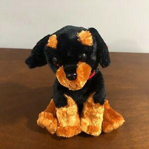 "TY 12"" Beanie Baby Brutus Plush Stuffed Animal Tags Rottweiler Dog 10040"