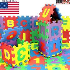 36 Piezas Bebé Niño N º alfabeto puzzle Espuma Matemáticas Juguete educativo