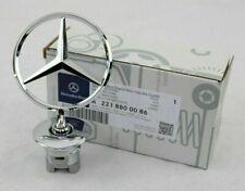 Mercedes Benz Badge S C E Class GENUINE Hood Star Logo Chrome Emblem