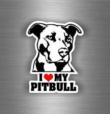 Sticker adesivo adesivi tuning auto moto bomb jdm i love my pitbull cane r2