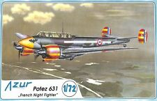Azur 1:72 Potez 631 French Night Fighter Plastic Aircraft Model Kit #A037