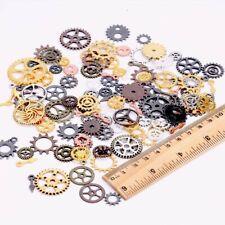 10 Clock Gears Clock Parts Metal Gears Steampunk Assorted Lot Bronze Silver Cogs