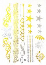 Flash Tatouage Body Temporaire Bijoux argent/doré Métallique henné Bracelet TA-8