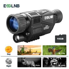 5X40 Night Vision Monocular HD Infrared IR Video Camera Day Night 100% Darkness