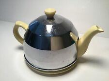 Vintage Sadler England Yellow Ceramic Beehive with Aluminum Cozy Tea Pot 16 oz.