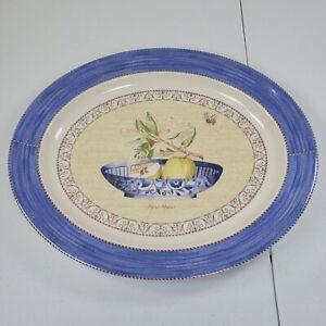 """Wedgwood Sarah's Garden Queensware 16 1/2"""" oval platter"""