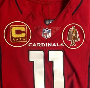 2017 ARIZONA CARDINALS Larry Fitzgerald WR Walter Payton Man of the Year PATCH