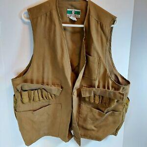 Hunting Vest Vintage Game Winner Sz Lg Bird Brown Cotton Nylon Game Pouch Mens