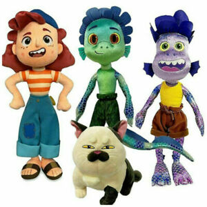 Luca Pixar Alberto Luca Sea Monster Plush Toys Stuffed Animals Dolls Kid Gifts