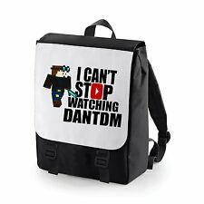 I CAN'T STOP WATCHING DANTDM BACK PACK BAG BAGBASE YOUTUBER GAMER YOUTUBE GAMER