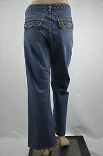 MICHAEL KORS Jeans LOW-RISE Blue BOOT CUT EMBELLISHED FLAP Pocket Size 10