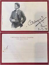 77) Foto cartolina del 1900 con dedica autografa di Piero Mascagni