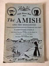 """Vintage 1938 """"The Amish & Mennonites"""" History Booklet by Ammon Aurand w/ Photos"""