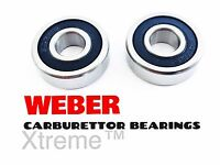 2 RUBBER SEALED WEBER CARBURETTOR SPINDLE BEARINGS DCOE/DCNF/IDF DELLORTO CARB
