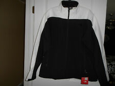 The North Face Cheroot Soft Shell Jacket Fleece Lined Black/White Mens Size XL