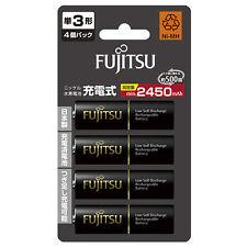 AA Batteries Fujitsu Rechargeable Made in Japan AA Eneloop Batteries Ni-MH x 4