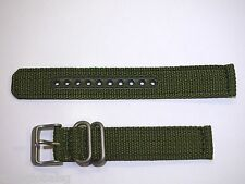 Genuine 18mm Seiko Green Nylon Strap Band Watch Model SNK805 -Strap Model 4K11JZ