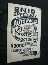 """ENID SPEEDWAY OKLAHOMA """"TEMPLATE"""" POSTER"""