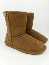 Bearpaw Chestnut Tan Boots Youth Size 3 US Slip On Lined NEW