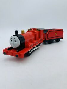 """TOMY Trackmaster Thomas & Friends """"JAMES"""" Connected WORKING Motorized Train"""