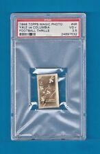 YALE Vs COLUMBIA 1948 Topps Magic Photo Football Thrills #4R PSA 3.5 VG+ RARE!