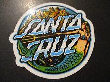 "SANTA CRUZ Skate 3.25"" Sticker MERMAID DOT Logo skateboard helmets decal"