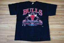 VINTAGE CHICAGO BULLS NBA WORLD CHAMPIONS 1993 BLACK SIZE MENS XL RARE 90s USA