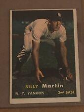 1957 Topps Set Break # 62 Billy Martin EX NY YANKEES Free Shipping