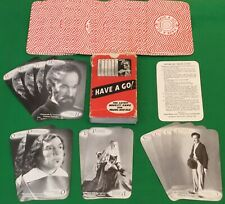 Rate Old 1950 Vintage HAVE A GO Card Game MADAME TUSSAUD'S Waxwork Playing Cards