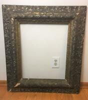 """Antique Ornate Gold Gesso PICTURE FRAME 33"""" x 29"""" Victorian Chippy Shabby Worn"""