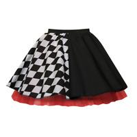 Ladies HARLEY QUINN Halloween Costume Skirt FANCY DRESS Jester / Harlequin SKIRT
