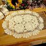Oval Placemat Table Place Mat Vintage Hand Crochet Cotton Lace Doilies Floral