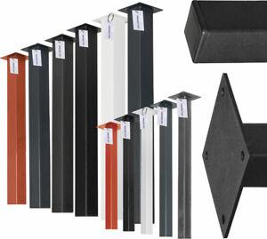 Tischfuß Untergestell Tischgestell Tischbein Quadratrohr 80x80mm Tischkufen