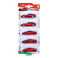 Bburago Ferrari Evolution 5 pack 2.75in Car Toy Gift Set