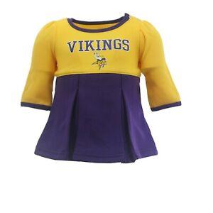 Minnesota Vikings NFL Baby Infant Girls Dress-Style Creeper Bodysuit New Tags