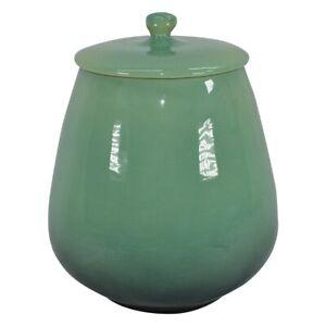 Roseville Pottery Raymor 1953 Mid Century Modern Green Cookie Jar 20