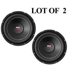(2) Pyle PLPW12D 12'' 3200 Watt Dual Voice Coil 4 Ohm Subwoofers (PAIR)