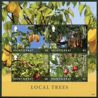 Montserrat Nature Stamps 2018 MNH Local Trees Starfruit Tamarind Tree 4v M/S