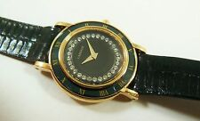 Lassale by Seiko Gold Tone Metal 4N00-1190 Gems Lizard Sample Watch NON-WORKING