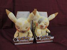 """NEW Pokemon 20th Anniversary Pikachu & Winking Pikachu 10"""" Plush BUNDLE LOT"""