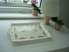 antike Roesler Servierplatte Kuchenplatte Fleischplatte Rosen Dekor