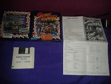 STREET FIGHTER 1987 CAPCOM COMMODORE AMIGA CARDBOARD KIXX COMPLETE BOX MANUAL
