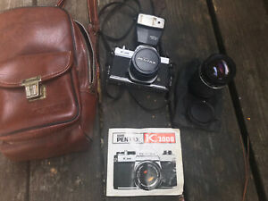 Pentax K1000 35mm SLR Film Camera with 50mm Manual Focus Lens and Zoom Lens
