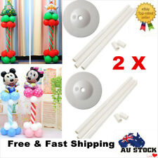 2 x 1.5M Balloon Column Base Stand Display Kit Wedding Birthday Party Decoration